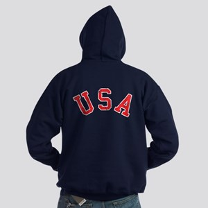 Vintage Team USA [back] Hoodie (dark)